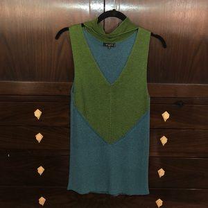 ETRO deep v neck woven sleeveless shirt